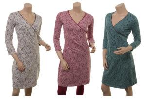 Kleid Pia von Sorgenfri Sylt in den Farben Sand, Powder und Teal