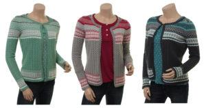 Knitwear Aaltje von Sorgenfri Sylt in den Farben Pistachio, Moss und Night