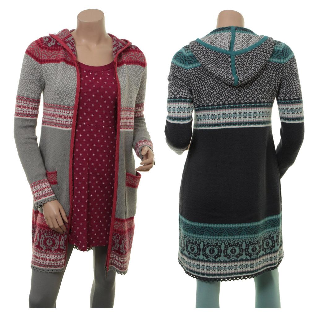 Knitwear Agda in den Farben Moss und Night