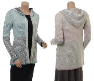 Knitwear Annika von Sorgenfri Sylt in den Farben Teal und Powder