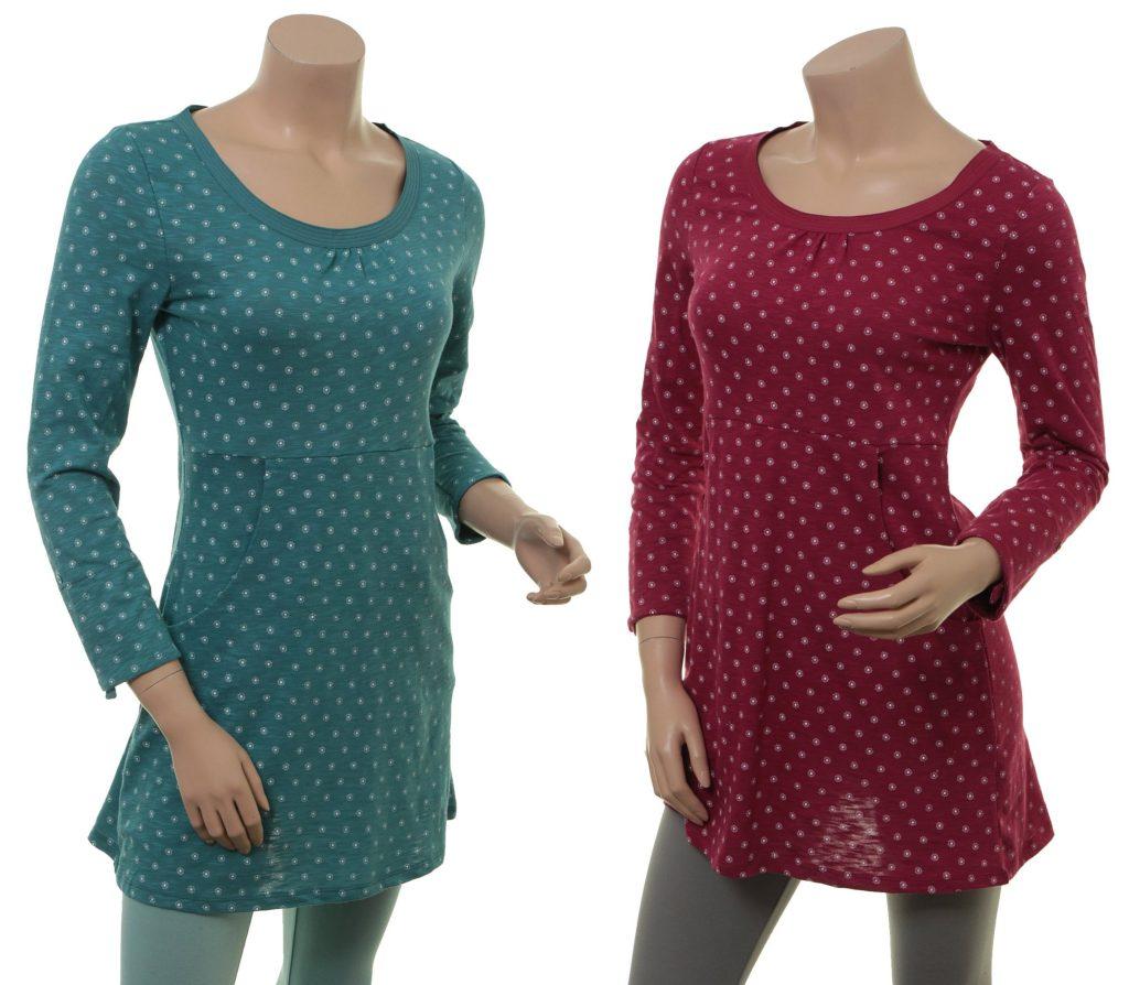 Shirt Synne von Sorgenfri Sylt in den Farben Teal und Cranberry