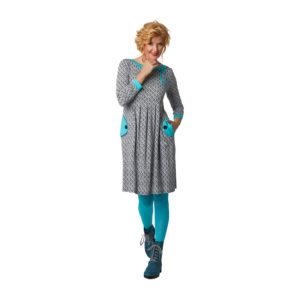 Kleid Almina Bubbles von Du Milde