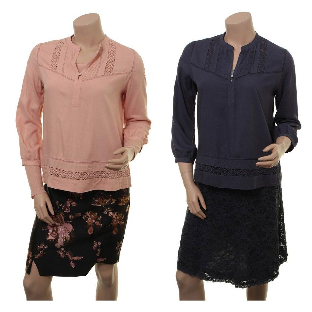 Bluse 1-7381-1 in den Farben Mahagony und Rose Graystone von Noa Noa