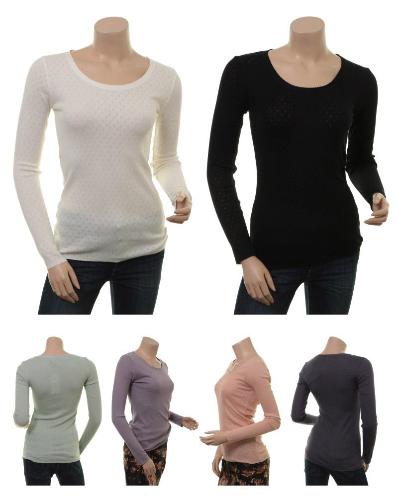 Langarm T-Shirt 1-6286-4 in den Farben Cloud Dancer, Black, Aqua Grey, Gray Ridge, Mahagony Rose und Graystone von Noa Noa