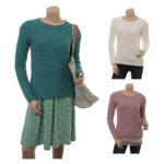 Sorgenfri Sylt - Knitwear Britta (17-071 teal, ivory, powder)