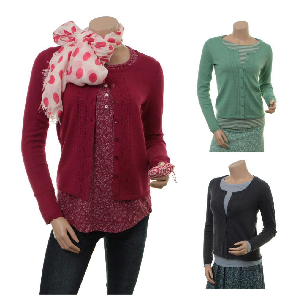 Sorgenfri Sylt - Knitwear Vinny (17-096 cranberry, pistachio und night)
