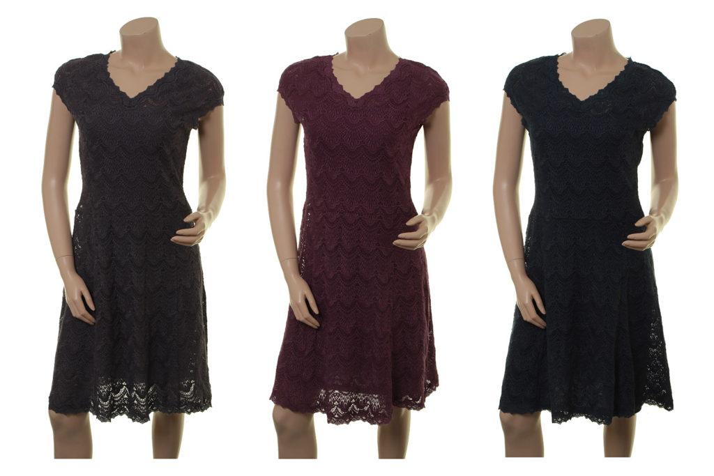 Kleid Meta in anthrazite, plum und midnight