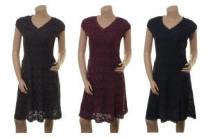 Kleid Meta in anthrazite, plum und midnight