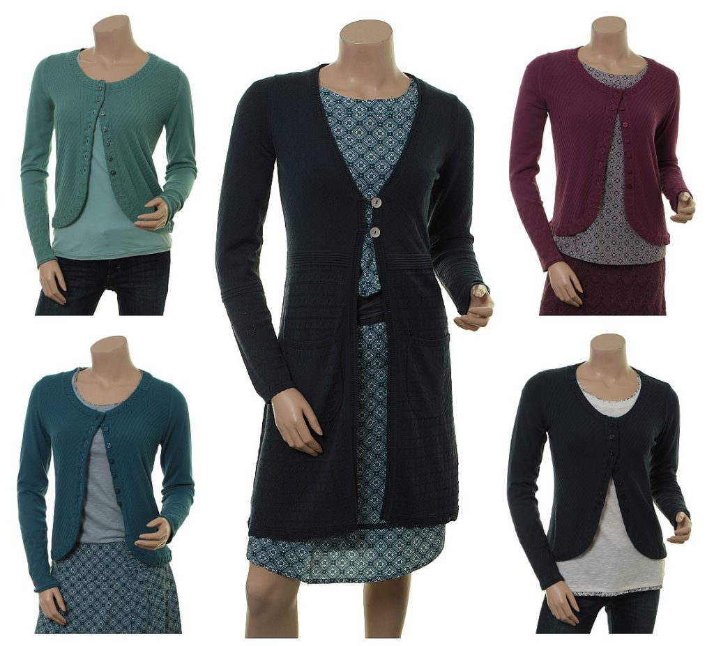 Knitwear Levi in midnight und Strickjacke Wolke