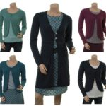Knitwear Levi in midnight und Strickjacke Wolke