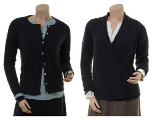 Knitwear Inken 27-097-320 in midnight und Knitwear Berit 27-096-320 in midnight von Sorgenfri Sylt