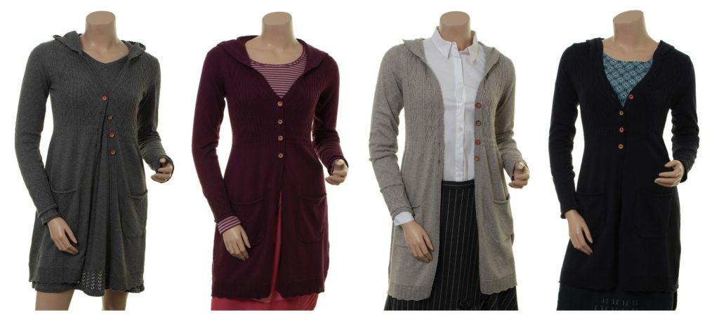 Knitwear Neele 27-098 in stone, plum, atmosphere und midnight von Sorgenfri Sylt