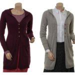 Knitwear Neele 27-098 in stone, plum, atmosphere und midnight von Sorgenfri Sylt