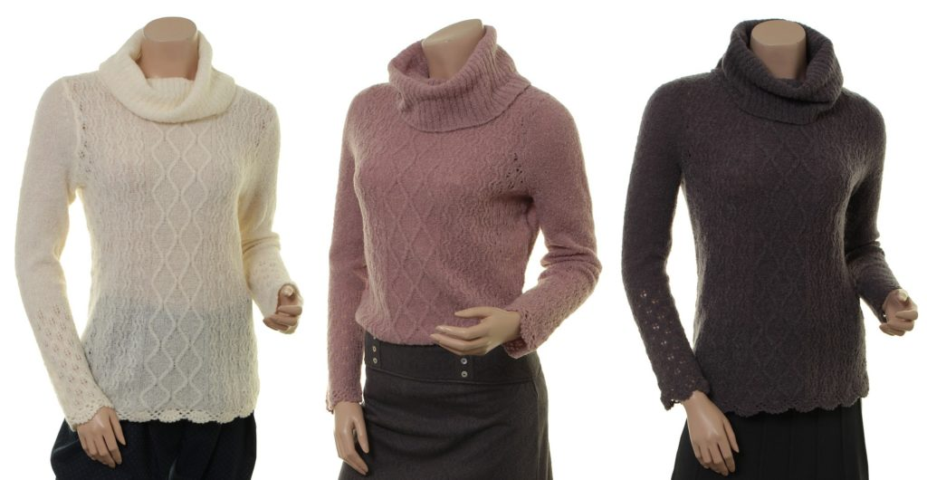 Knitwear Polly 27-066 in ivory, powder und stone Sorgenfri Sylt