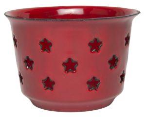 Teelichthalter Emaille Stern von Ib-Laursen (0413-33)