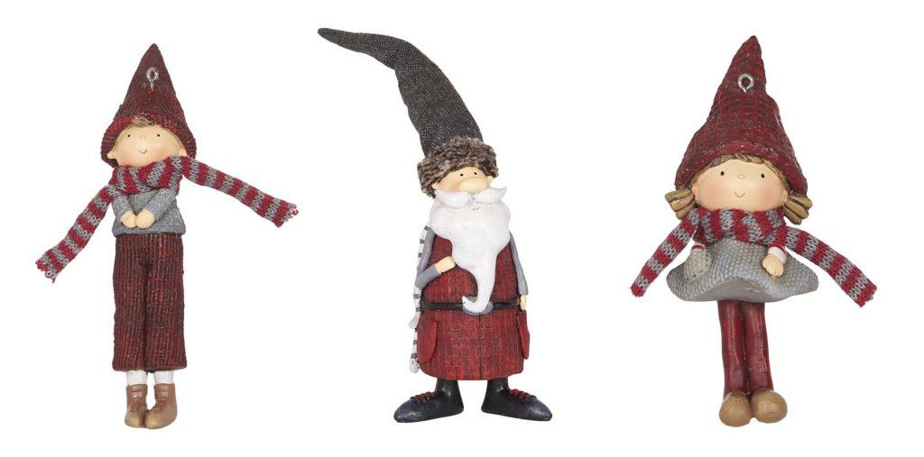 Wichteljunge, Wichtel-Weihnachtsmann und Wichtelmädchen von Ib-Laursen (2734-00, 2742-00 und 2735-00)