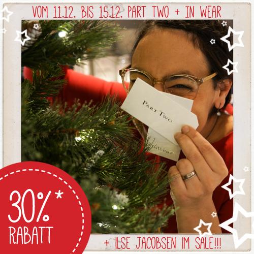 Bis 15.12.2017 - 30% Rabatt auf Part-Two, InWear und Ilse Jacobsen