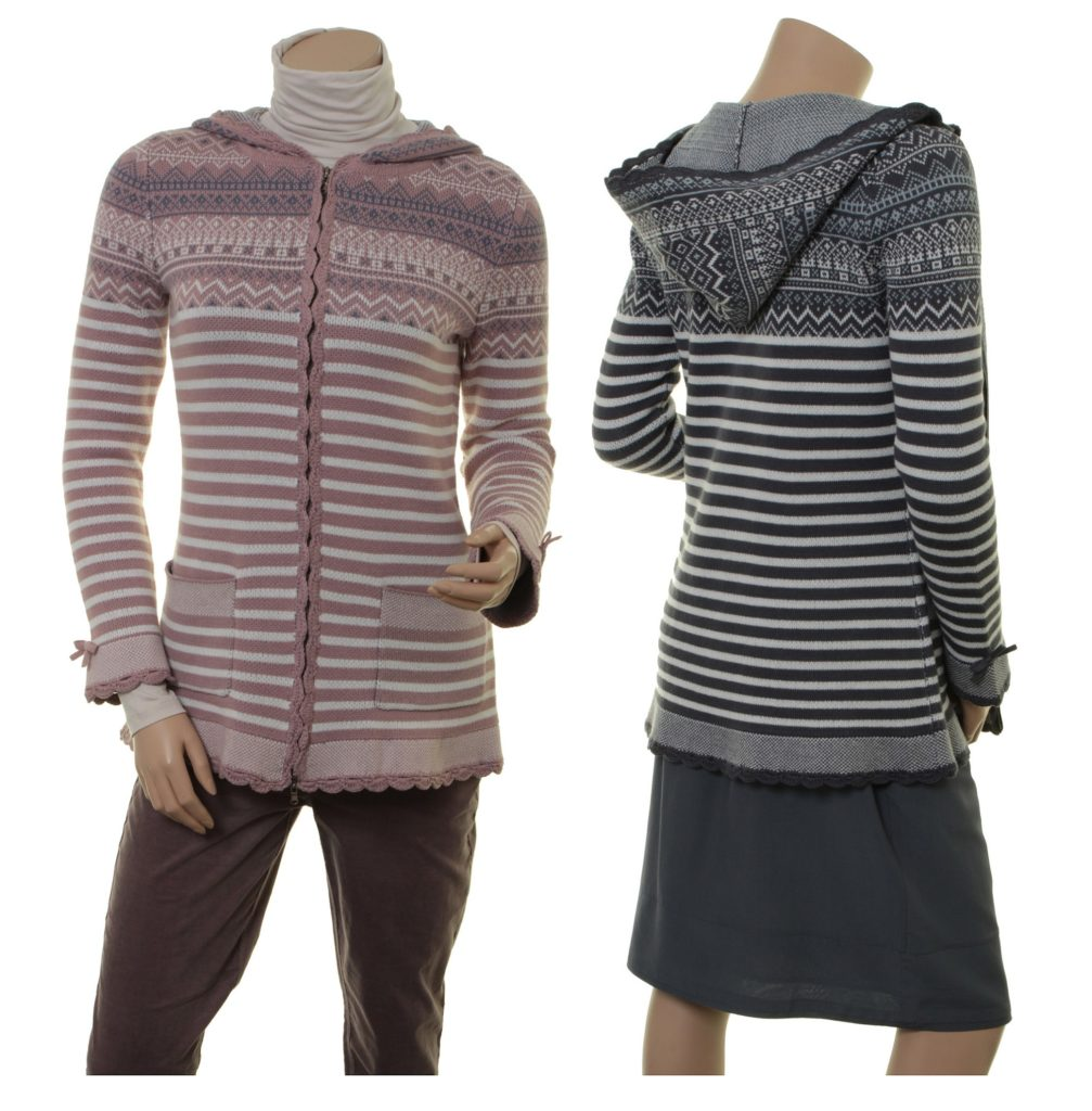 Knitwear Holly (18-072) in powder und night von Sorgenfri Sylt