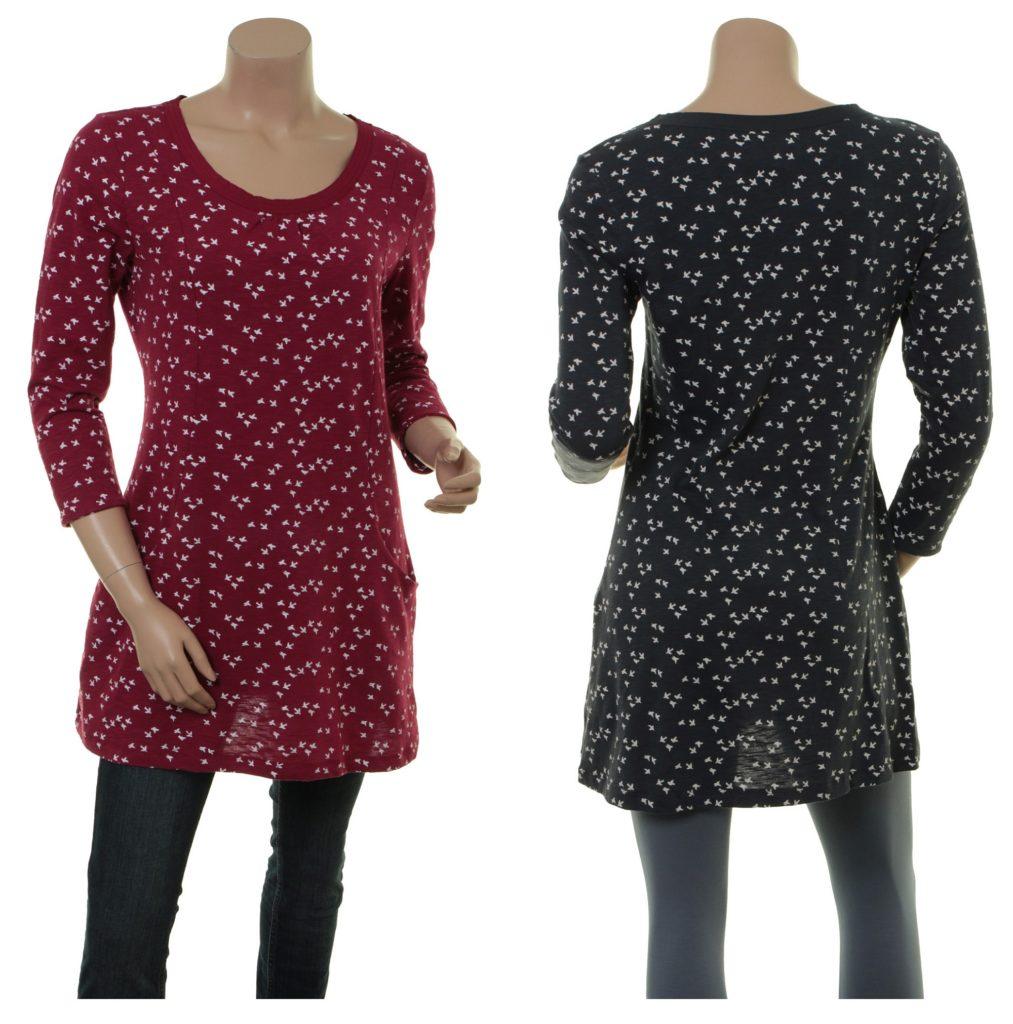 Shirt Christa (18-062) in raspberry und night von Sorgenfri Sylt