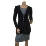 Outfit: Lange Strickjacke Rebekka (18-081) mit Kleid Manon (18-035)