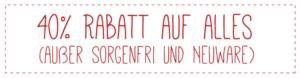 Fast wie Weihnachten: Rabatte gibt es auch in unserem Onlineshop auf www.Milida.de